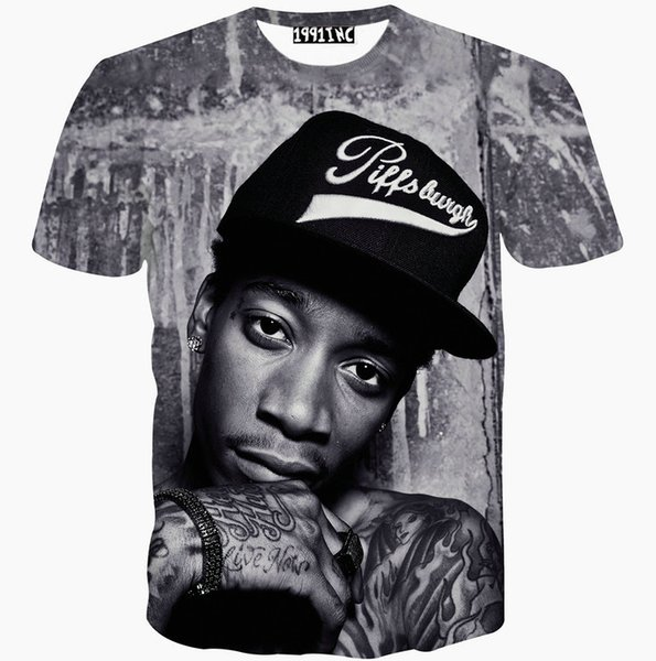 Hip hop star T shirt Punk short sleeve gown Cool pattern tees Street printing clothing Unisex cotton Tshirt