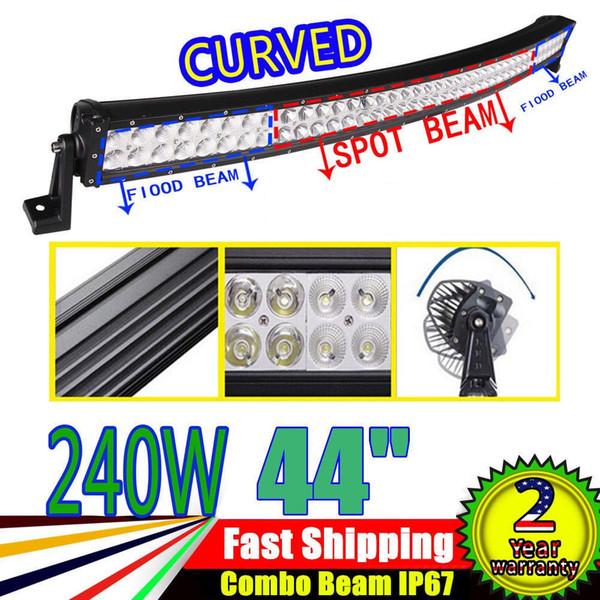 42 inch 240W Curved Led Light Bar Off Road Working Light Truck Bar Combo Beam Spot Flood Combo 80pcs 3W for 4wd Utv Atv Suv Truck IP67