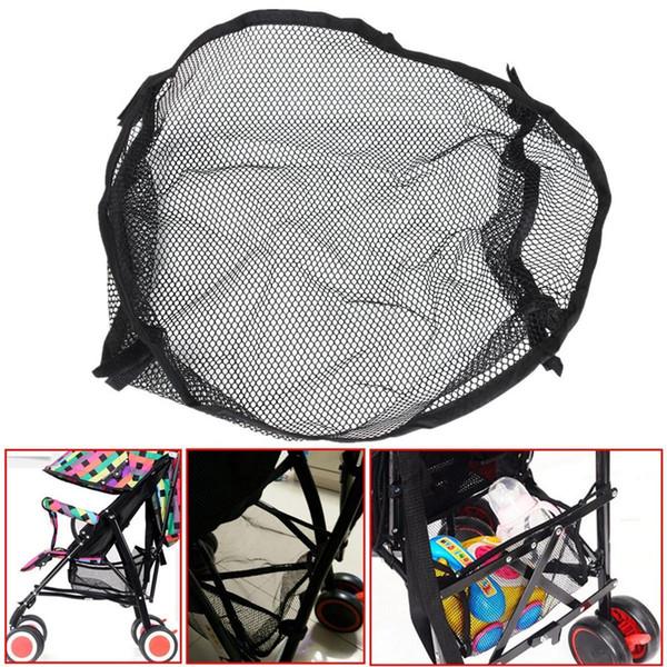 Atacado-Universal Under Storage Net Bag Para Buggy Carrinho De Bebê Carrinho De Bebê Organizador Fralda Guarda-chuva Garrafa Brinquedos Sacos De Armazenamento F20