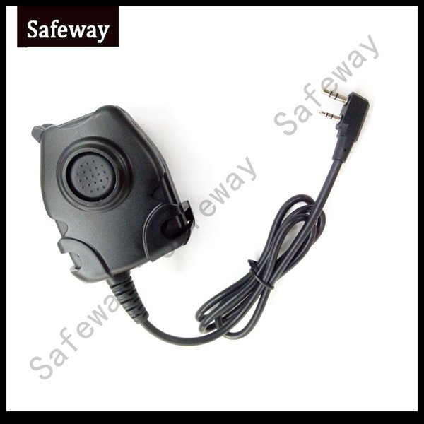 Waterproof PTT Cable for Z Tactical headset ComtacII H50 MSA SORDIN H60 HD03 Headset for Kenwood for Baofeng two way radio