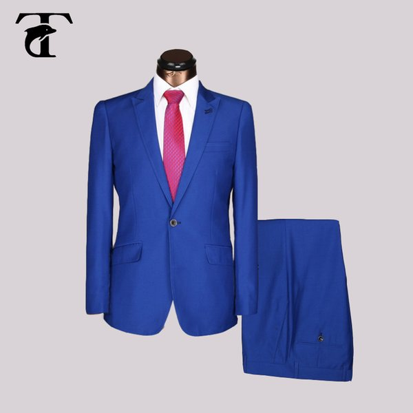 Men Suit Design Slim Fit With Long Sleeve Business Male Suits men Wedding black 2016 Hot Sale Latest navy blue Bleiser Masculino