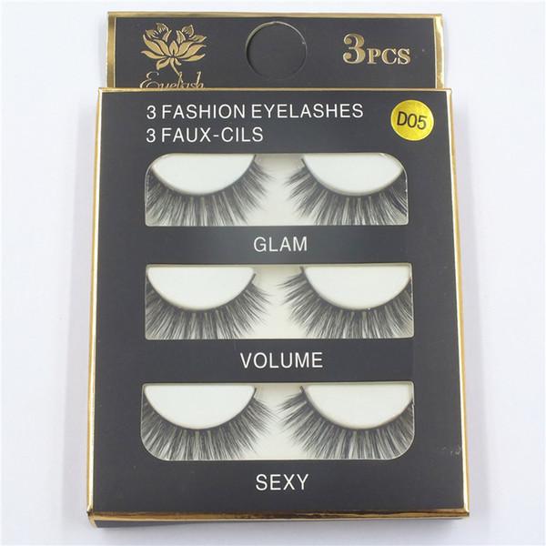 3D mink hair false eyelashes 8 Styles Handmade Beauty Thick Long Soft Mink lashes Fake EyeLashes Eyelash Sexy High Quality DHL free shipping