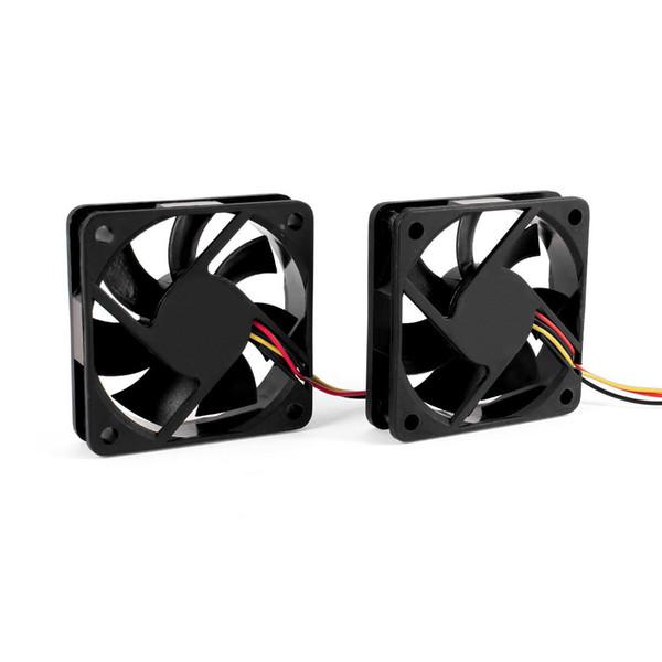 Atacado-60mm 6cm DC 12V 3 Pin Computador Case CPU Cooler Cooling Fan Preto 2 Pcs