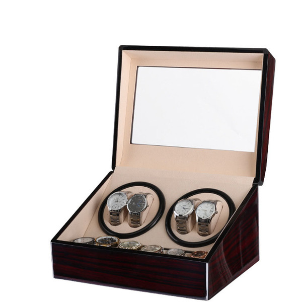 best selling Glossy Wooden Velvet Automatic Horloge Watch Winder Box Watches Watch Winders Shipping Uhrenbeweger Remontoir Montre Automatique Shop Rotate