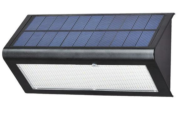 NOUVELLE Arrivée Capteur de Radar Solaire Alimenté Lumière Extérieure Lampe LED Mur Lumière Jardin Lampe ABS + PC Couverture 6W 800lm Ampoule Étanche LLFA