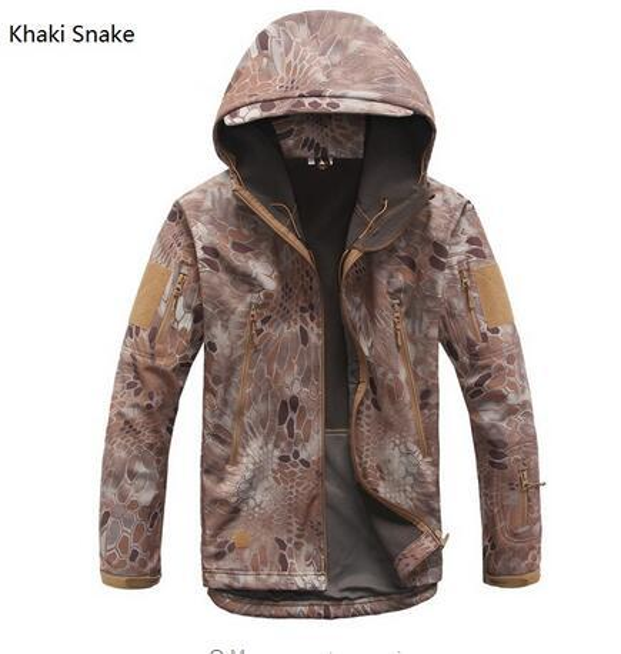 Men Jackets Military Tactical Jacket Waterproof Windbreaker Camouflage Hunt Camp Travel Thermal Fleece Jacket and Coat
