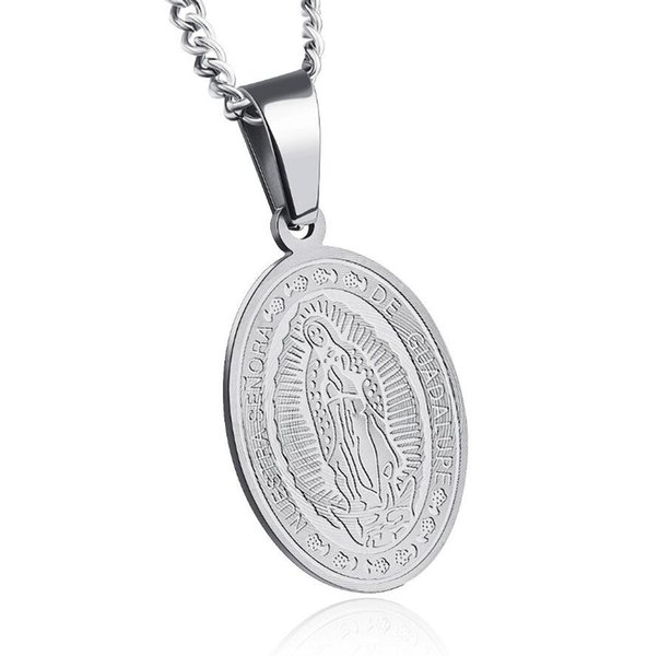 Stainless Steel Saint Benedict Exorcism Medal Catholic Cross Protection Pendant Necklace