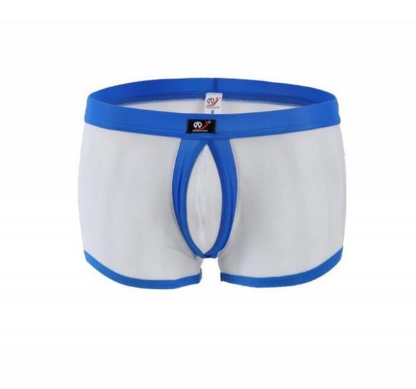 Sexy Mens Underwear Boxers Calzoncillos Appeal Translucent Mesh Boxer Men's Sexy Underwear Bulge Pouch Design Gay Men Boxers
