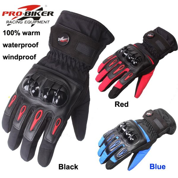 Guantes Luvas Pro-biker Marca Winter Warm guantes de moto moto raing motocross Guantes de protección a prueba de viento 100% a prueba de agua