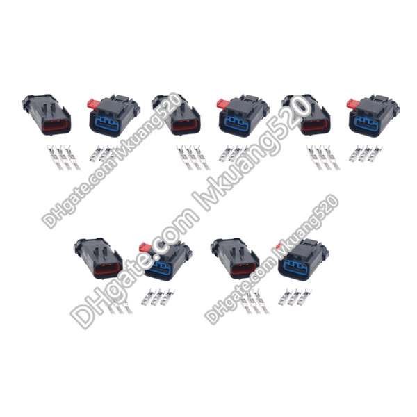 5 Sets 3 Pin Waterproof vehicle connector Automotive connector with end block DJ7036Y-2.8-11/21