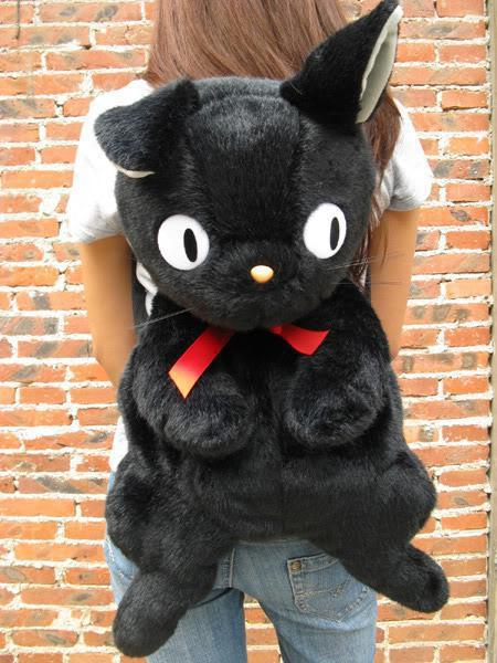 Wholesale-Rare Kiki's Delivery Service Kiki Black Cat Bag Stuffed Animal Doll Plush Toy Gift for Girl Birthday Gift