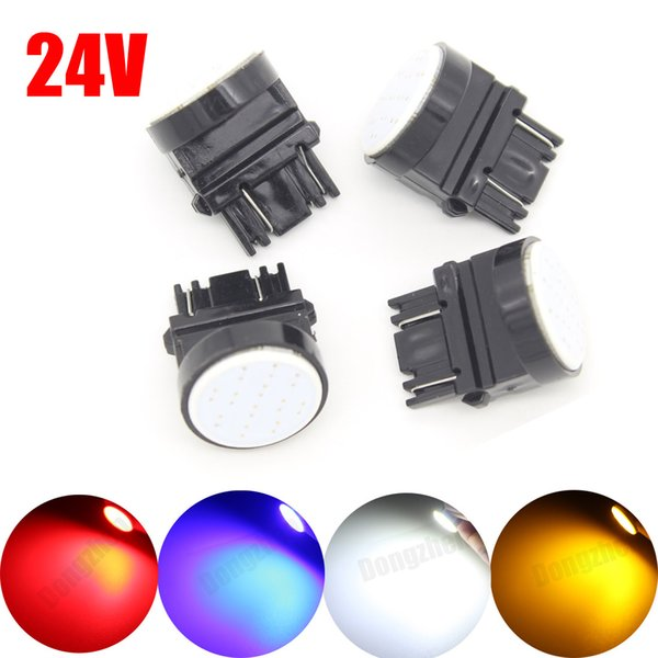 1X Auto Motor Car bulbs 12v 24v T25 1 COB LED 3157 P27W P27/7W FogLight Tail Rear Turn Signal Reversing Lights Additional Brake Lights DRL