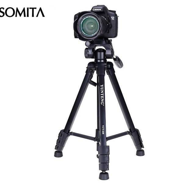 New Brand 2017 Professional DSLR Tripod with Tripods Head Outdoor Portable ABS Hot Sale Travel Camera Tripod
