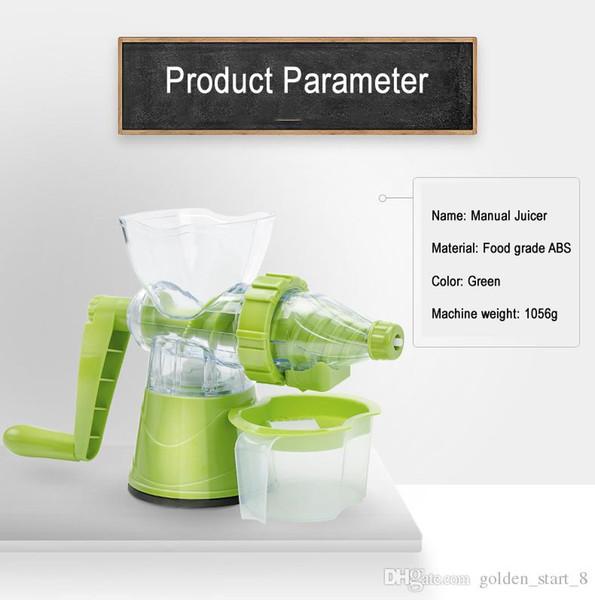 12 Pz / lotto Famiglia Desktop Manuale Spremiagrumi wheatgrass / frutta / verdura / Estrattore di Succo Macchina per il gelato macchina del Succo