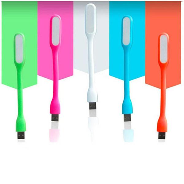 5 Colors Portable USB Light For Xiaomi Power bank Computer Flexible Bendable Led Lamp 100pcs Free DHL