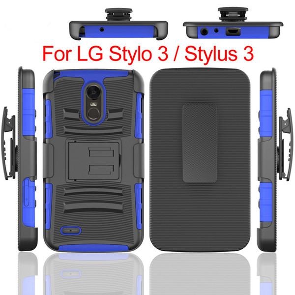 For Motorola MOTO G5 PLUS G4 PLUS G4 PLAY LG STYLO 3 Armor Case Heavy Duty Durable Robot Shockproof 3 in 1 Cover