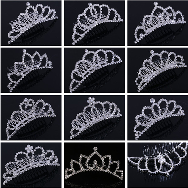 top popular Shining Rhinestone Crown Girls' Bride Tiaras Fashion Crowns Hair combs Bridal Headpieces Accessories Party Hair Jewelry For Wedding Events 2021