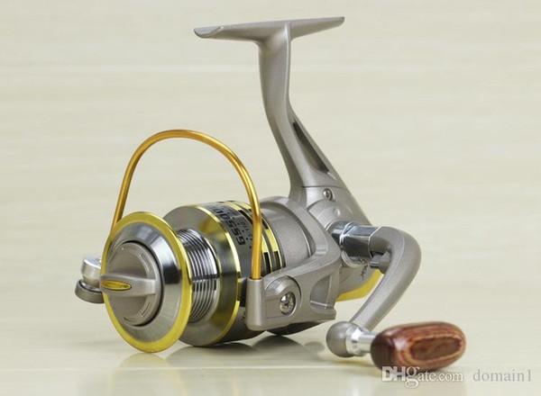 Ultra-thin GS 1000 - 7000 Fishing Reel Hot Sale 8 Ball Bearings 5.2 : 1 Fishing Reel German Technology 6000 Series Feeder Fishing Reels