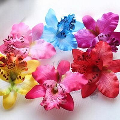 Mix Colors Bridal Flower Orchid Leopard Hair Clip Beauty Hairpins Barrette Wedding Decoration Hair Accessories Beach Hairwear Freeshipping