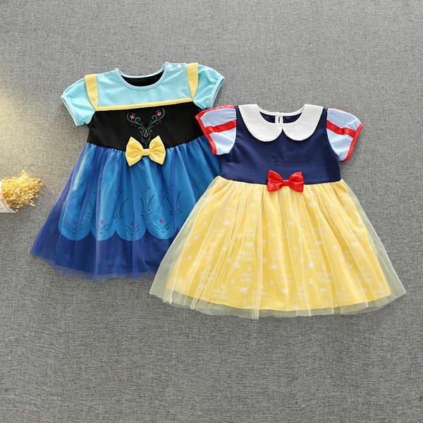 Compre 1 7y Summer Girl Vestidos De Algodón Marca Bebé Ropa Para Niños Vestido De Princesa Queen Cosplay Costume Party Niños Ropa Trajes Con Capa A