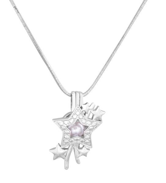 Оптовая мода ювелирные изделия посеребренные жемчужные клетки падающая звезда медальон кулон выводы клетка эфирное масло диффузор