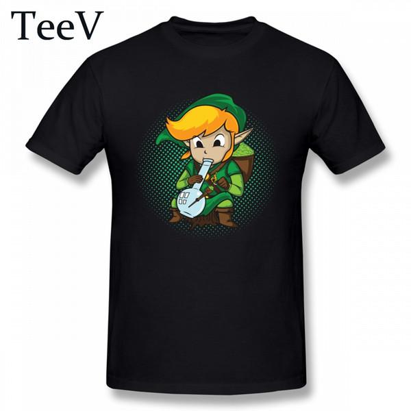 Personalizado Para O Macho Lazer Camiseta A Lenda De Zelda Bong Homme Camiseta Homens Gráfico Top Tees 3d Impressão