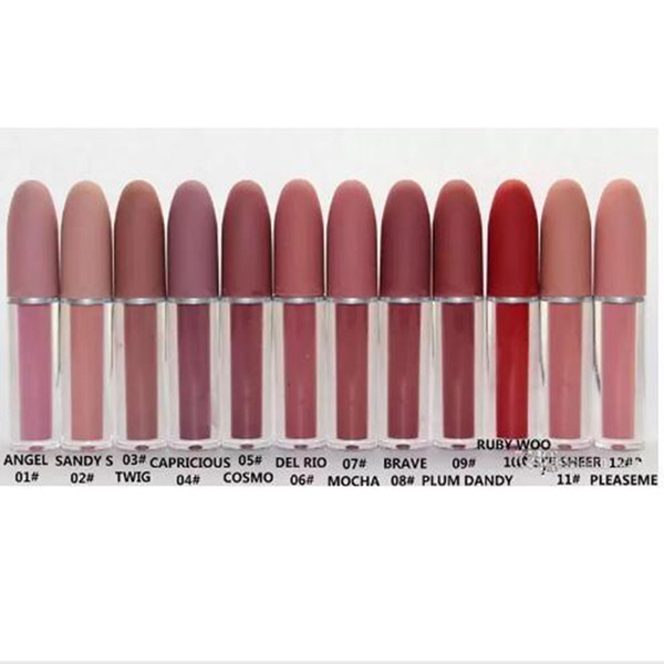 top popular NEW Good quality Lustre Lipgloss Retro Frosted Brand Lipgloss Glaze Lipgloss 12 Different Colors With English Name 4.5g 2019
