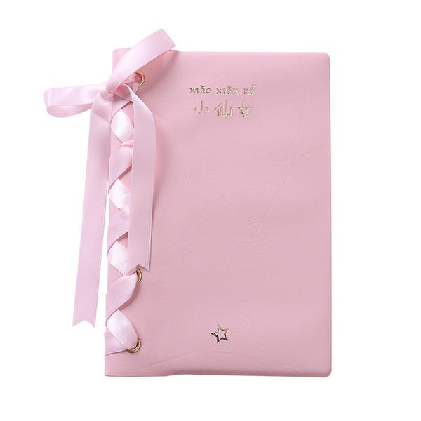 Korean Girl Series Cute Pink Notebook Waterproff PU Cover Creative Office School Notepad Upscale Blank Inner Pages Notebook