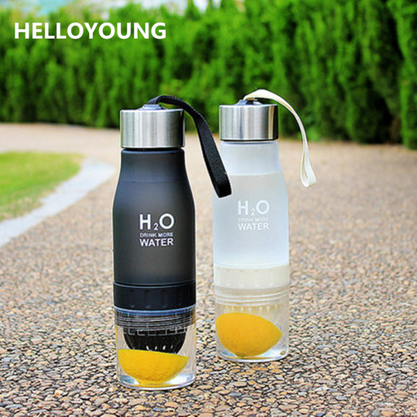 Hot sales New Xmas Gift 650ml Water Bottle plastic Fruit infusion bottle Infuser Drink Outdoor Sports Juice lemon Portable Kettle