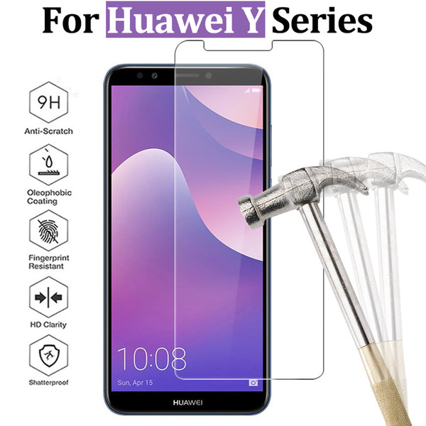 For Huawei Y9 2018 glass for Huawei Y6 prime 2018 protective glass Y3 Y5 Y6 ii screen protector Y 3 5 6 tempered glas 9h film