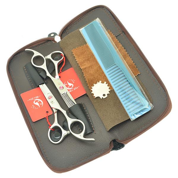 "6.0"" Meisha Professional Hair Cutting Scissor Hair Shears Hairdressing Tesouras Kits Straight Thinning Hair Makas Barber Salon Razors HA0410"