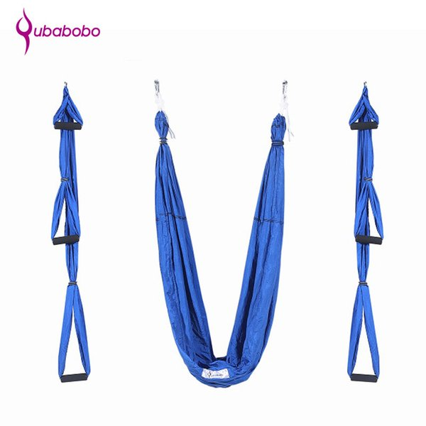 [QUBABOBO] Brand Yoga Hammock Parachute Fabric Nylon Taffeta Anti Gravity High Strength Decompression Hammock Yoga Gym Hanging