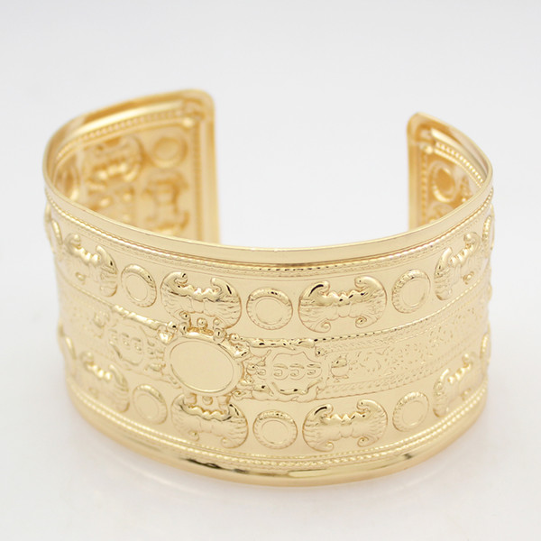 Victorian Egyptian Roman Gold Brocade Palace Sculpture Bracelet Bangle Cuff  Jewelry Anime Copper Gold Bangles India Childrens Silver Bangles From