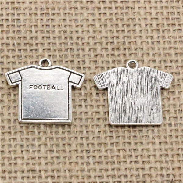 Wholesale 39pcs Charms Tibetan Silver Plated football cloth 26*23mm Pendant for Jewelry DIY Hand Made Fitting