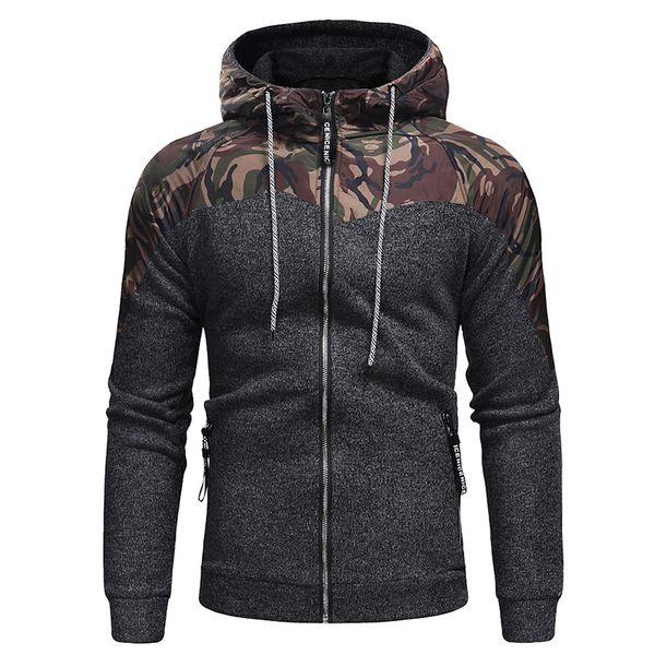 2018 winter new Men hoodies fashion Camouflage Patchwork Thicken hoodie Sweatshirts casual Comfortable coat Sportswear
