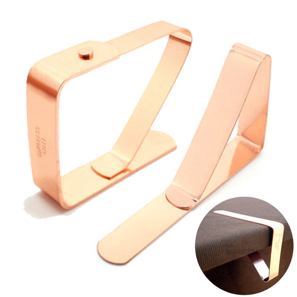 4 Pcs/Set Stainless Steel Napkin Rings Tablecloth Tables Clips Holder Cloth Clamps Rose Gold Naplin Rings For Wedding Party