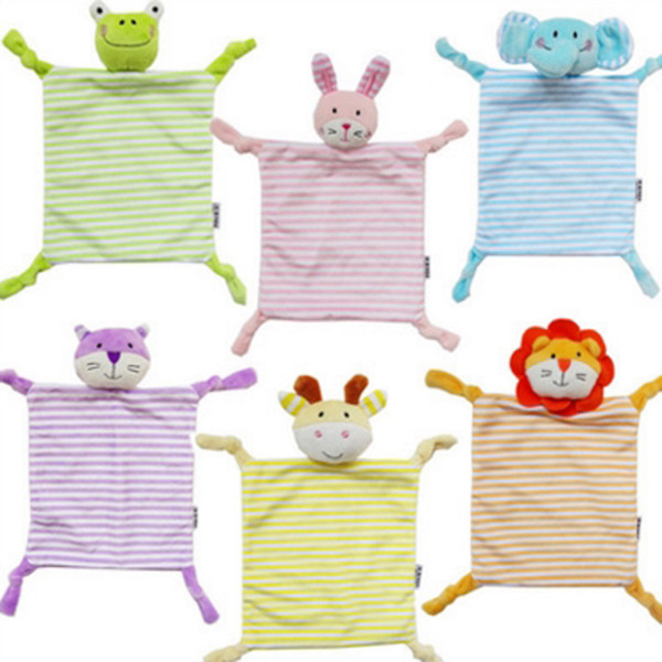 Newborn Toddler Kids Plush Towel Toy Rabbit Animal Rattle Toy Baby Sleeping Stuffed Dolls Comfort Towel