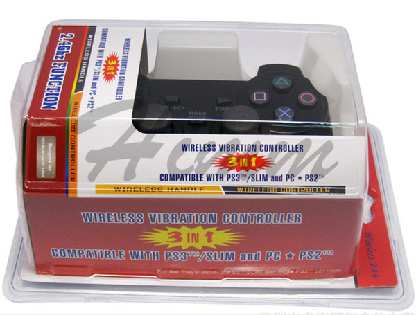 3 in 1 Wireless 2.4G Controller Gamepad Wireless Controller For PS2 PS3 PC/ Compatible With Windows 98/ME/2000/XP/Vista
