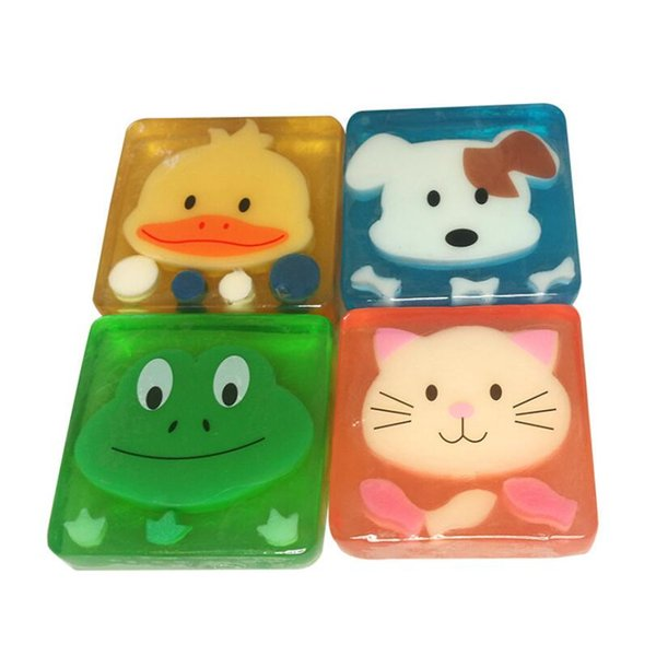 Cartoon Children/Baby Cute Fruit Handmade Soap Whitening Essential Oil Soap Animal frog bear elephant rabbit gift Free Shipping