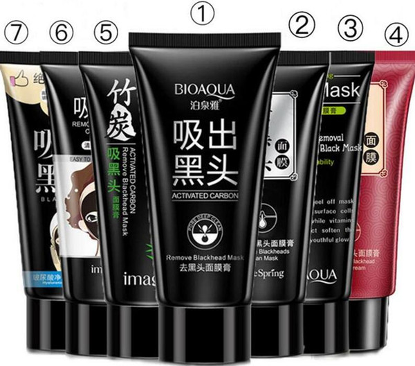 BIOAQUA Black mask SHILLS Blackhead Remover Deep Cleansing Purifying Peel-off Mud collagen facial Pore Cleaner face Peel Masks 7 styles DHL