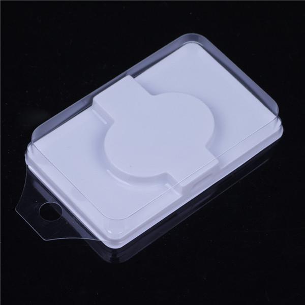 500 Sets Caja de embalaje para pestañas pestañas en blanco embalaje de plástico tapa transparente bandeja blanca al por mayor
