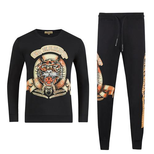 Autumn and winter new men's luxury casual letter printing sportswear sportswear ~ men's suits jogging sportswear track and field clothing