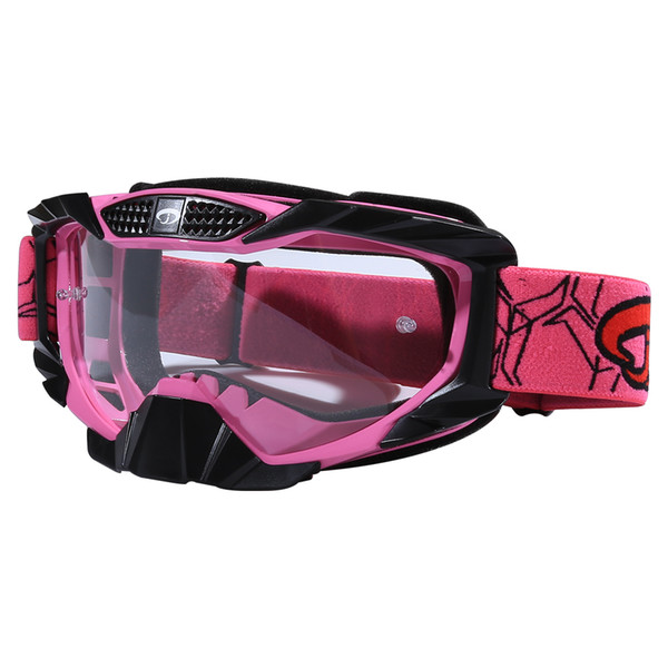 Jiepolly Motocross Goggles Tear Off Lens MX ATV Goggles Ski Snowboard Motorcycle Racing Eyewear Clear Lens Unisex DH Glasses