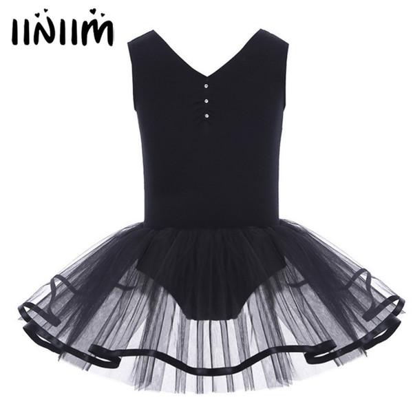 Kids Sleeveless Tutu Flower Dress Girls Ballet Dance Leotard Dress for Dancer Performance Dancewear Girls Costumes Ballerina