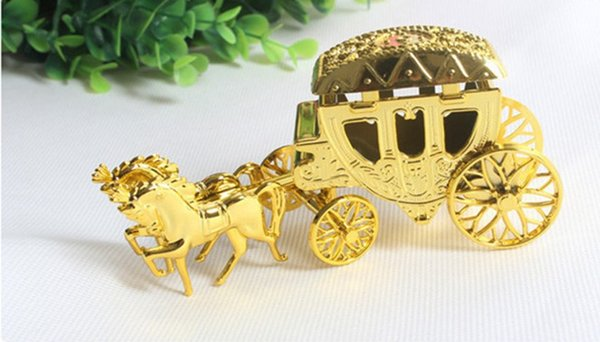10pcs/lot Cinderella Carriage Wedding Favor Boxes Candy Box Royal Wedding Favor Boxes Gifts Event & Party Supplies Free shipping