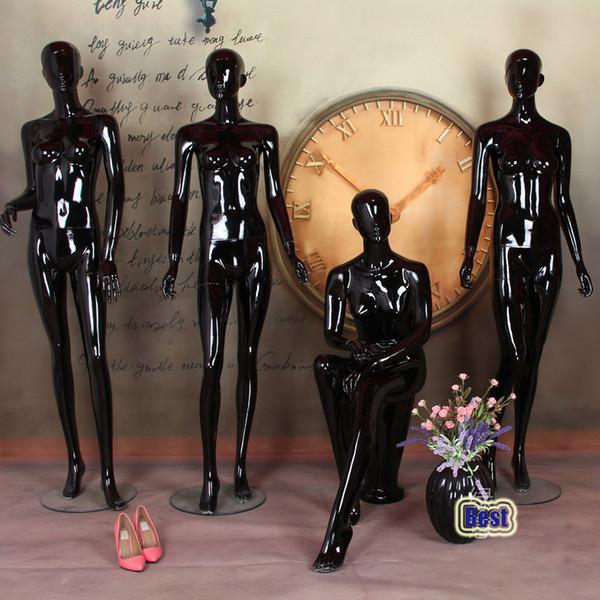 Высокое Качество Черный Женский Манекен Стекловолокна Модный Манекен Профессиональный Производитель В Китае