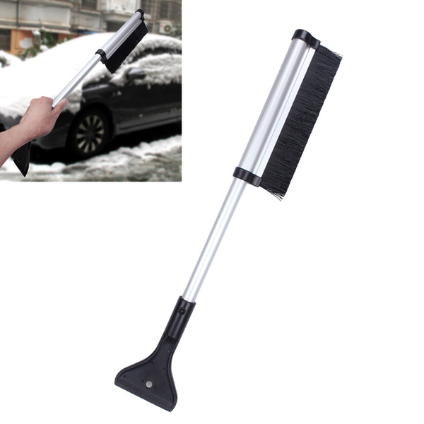 best selling Snow Brush Ice Scraper Car Windshield Sonw Ice Shovel Spade Scoop Vehicle Window's Aluminium Extendable Snow Dust Remover