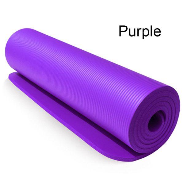 10mm dick verlängert verbreitert multifunktionale Fitness rutschfeste Turnhalle umweltfreundliche faltbare NBR-Gummi-Yoga-Matten lila