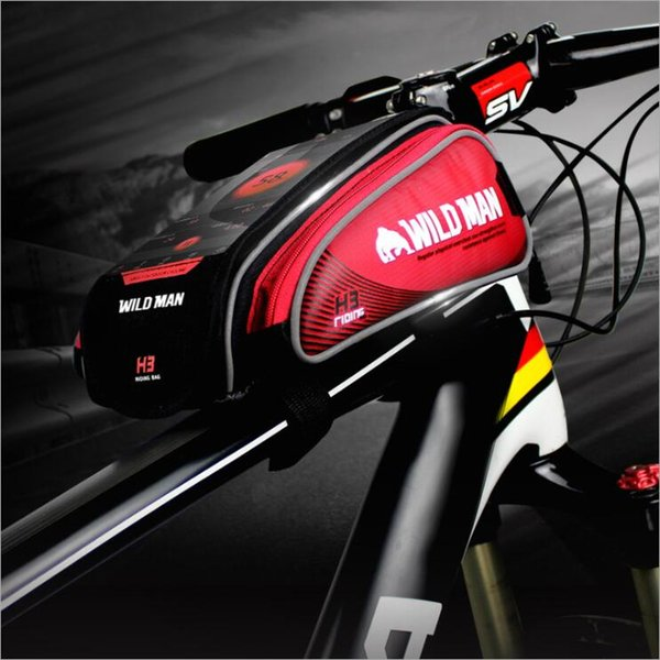 Bike Bag 4.7-5.5 Inch Touch Screen Bicycle Bag Front Frame Cell Phone TPU Cycling Bag Pouch MTB Accessories