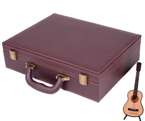 top popular wholesale leather suitcase the size 34*26*8.5CM Box shipping by Sea way 2021